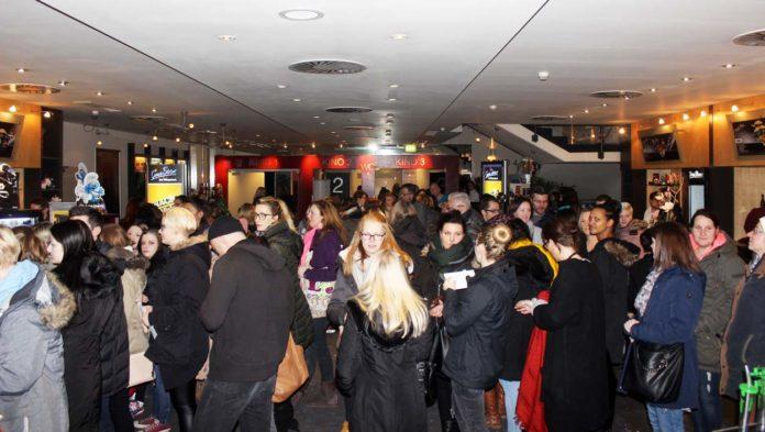 Zur ersten Vorstellung von Shades of Grey war das Kino voll.